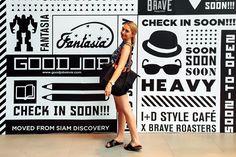 Emma Spencer at Siam Center, Bangkok, Thailand