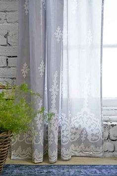 Plum & Bow Cora Curtain - Urban Outfitters