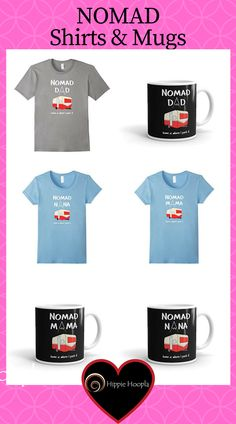Nomad Dad coffee mug for those who love camping outdoors, sitting by the camp fire, the RV life style, Glamping or getting into the wild.   #nomad #nomadic #nomadfashion #nomadliving #coffeemug #shirts https://kit.com/hippiehoopla/nomad-shirts-coffee-mugs