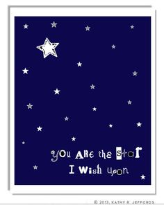 Stars Art Print, Navy Blue And White Nursery Art, Baby Boy Wall Decor, Celestial Quote Art, Constellations Art, Typographic Print, Night Sky on Etsy, $18.00
