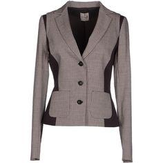 Toy G. Blazer ($105) ❤ liked on Polyvore featuring outerwear, jackets, blazers, khaki, khaki jacket, single breasted jacket, toy g., khaki blazer and long sleeve jacket