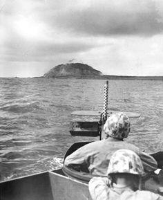 Iwo Jima landing beach, 19 February, 1945.