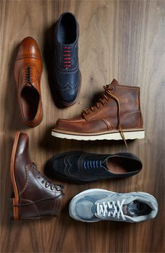 Red Wing 'Classic Moc' Boot  Though I wish I knew what the other shoes in the photo are.