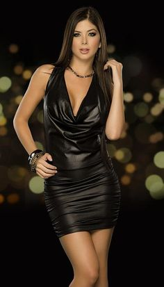Women's Dresses, Fashion Dresses, Mini Dresses, Party Dresses, Leder Outfits, Leather Dresses, Sexy Party Dress, Clubwear, Sexy Outfits