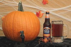DIY Pumpkin keg: How to carve a pumpkin into a beer keg!  #Halloween #Pumpkin #DIY #Craftbeer