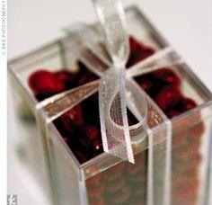 wedding favors- raspberry jellybeans