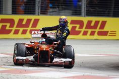 Mark ride on Alonso taxi ;)