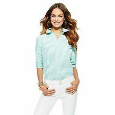 Gingham Flannel Shirt