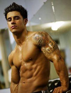 Guy Back Shoulder Tattoo