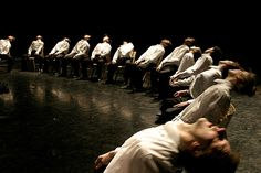 Minus One.  Choreographed by Ohad Naharin.  Performed in the photo by Les Grands Ballets Canadiens  de Montreal.