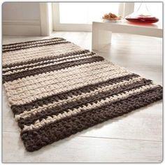 """Teppich """"Suomi"""" - Häkelteppiche aus Filzwolle « Häkelteppiche « Knüpfen im Junghans-Wolle Creativ-Shop kaufen"""