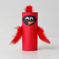 Cardboard Tube Cardinal by Amanda Formaro for Spoonful @Amanda Snelson Snelson Snelson Formaro