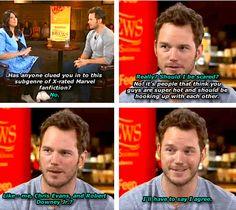 Chris Pratt is one of us. #GuardiansOfTheGalaxy #Avengers