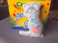 DoodleIts  Doodle It  Otter  Washable Softie  by HandmadeBits4u