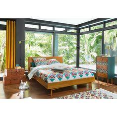 Vintage Oak Bed 180 x 200   Maisons du Monde
