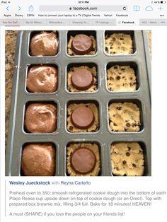 Reese's Cookie Brownies