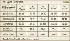 Mérettáblázat - Pampress Webshop Sewing, Dressmaking, Couture, Fabric Sewing, Stitching, Full Sew In, Costura
