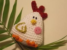 Crochet A funny CHICKEN for Easter free tutorial - Diy & Crafts Projects Crochet Easter, Knit Crochet, Chicken Humor, Funny Chicken, Donut Decorations, Origami Flowers, Knitted Headband, Amigurumi Doll, Garland