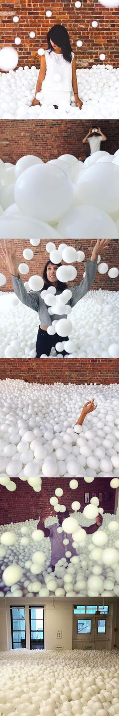 Creative agency Pearlfisher has put together an interactive art installation for adults, which just so happens to be a giant ball pit made of 81,000 white plastic balls!