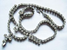 Rhinestone Necklace. $12.00, via Etsy.