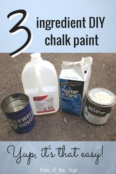 Make Your Own Chalk Paint (and Use It!) the Easy Way Have a piece of furniture in your home that you'd like to give a new look to, but don't have a ton of money to spend? Check out this easy DIY method to make your own chalk paint--and use it! Diy Chalk Paint Recipe, Make Chalk Paint, Homemade Chalk Paint, Chalk Paint Projects, Chalk Paint Furniture, Paint Stain, Diy Chalkboard Paint, Furniture Design, Chalk Paint Techniques