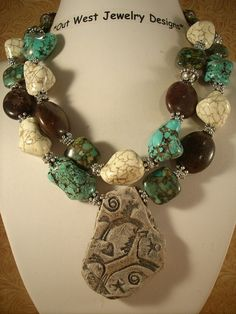 Cowgirl Necklace Chunky Turquoise Nuggets with by Outwestjewelry, $55.00