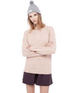 :CABLE STITCH JERSEY