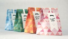 I could package craft fair sales like this! Cute party bags and a sticker...Eldorado Premium Tea