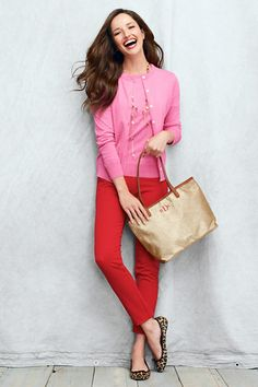 pink, red, leopard