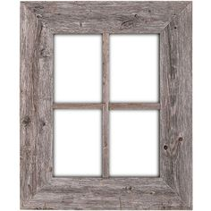 Barnwood Rustic Window Frame Decor Weathered Gray Wall Hanging Country... ($20) ❤ liked on Polyvore featuring home, home decor, frames, black, home & living, home décor, picture frames & displays, grey home decor and gray home decor