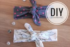 DIY: Sew hairband yourself - for babies and adults - nähen - Baby Diy Baby Diy Projects, Sewing Projects, Disney Baby Clothes, Baby Clothes Storage, Diy Accessoires, Gender Neutral Baby Clothes, Designer Baby Clothes, Clothes Crafts, Boho Baby