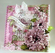 Heartfelt Creations | Pink Cascading Mums