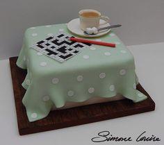 Crossword Cake by https://ww.facebook.com/Simonelouisecakes/timeline
