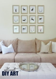 26 Great DIY Wall Art Ideas  This one would be cool a sequential still frames of a deer running or some action...