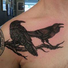 odins ravens, huginn & muninn