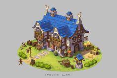 bit.fox's stylized farmhouse - Polycount Forum