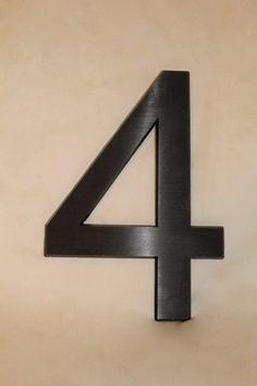 Popular Hausnummer aus Aluminium