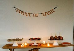 Used as the dessert table at a Fall party - from Joyful Weddings and Events
