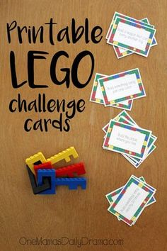 Print this LEGO challenge card game for a simple stocking stuffer for kids of all ages. Includes 16 activity cards for hours of fun. Lego Club, Lego Ninjago, Lego Duplo, Lego Math, Stem Activities, Activities For Kids, Babysitting Activities, Therapy Activities, Pep Rally