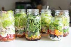 Mason Jar Italian Salad - Low Calorie Mason Jar Italian Salad Recipe