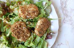 Salade met gebakken geitenkaas - Salt & Sugar