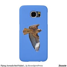 Flying Juvenile Red-Tailed Hawk Wildlife Cases Samsung Galaxy S6 Cases