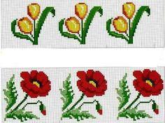 Tiny Cross Stitch, Cross Stitch Flowers, Cross Stitch Charts, Cross Stitch Patterns, Cross Stitch Christmas Cards, Anime Land, Poppies, Diy Crafts, Embroidery