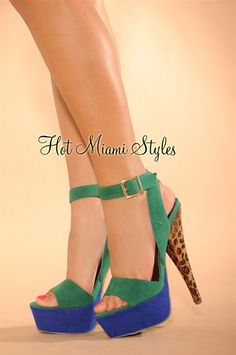 green and blue high heels - Google Search