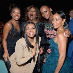 Gabrielle Union, Taraji P. Henson, Loretta Devine, Tika Sumpter, and Jada Pinkett Smith attend the 47th NAACP Image Awards presented by TV One at Pasadena Civic Auditorium on February 5, 2016 in Pasadena, California