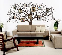 Family Tree Wall Decal Vinyl tree wall decal large tree sticker photo frame tree stickers nursery tree wall decal living room trees decal