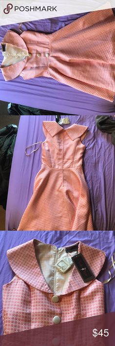 Voodoo Vixen pinup style dress Never worn. Ordered and just didn't like it when I tried it on. Comes with a belt. Voodoo Vixen Dresses