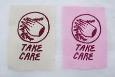 Take Care patch is approximately 5 x 7 inches and comes in a couple colours. **Please leave a message in your order and let me know what colour you