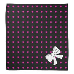 Hearts Abound Bandana with Pet Name Template - valentines day gifts love couple diy personalize for her for him girlfriend boyfriend