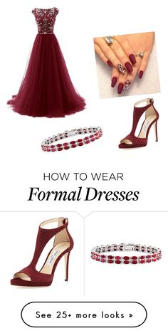 """Special Night"" by juliate on Polyvore featuring Jimmy Choo and Kevin Jewelers"